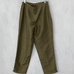 Women's Green silk dress pants Size 12